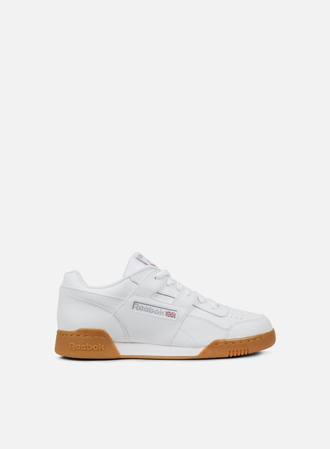 sneakers reebok workout plus white carbon classic red
