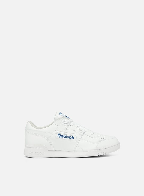 sneakers reebok workout plus white royal