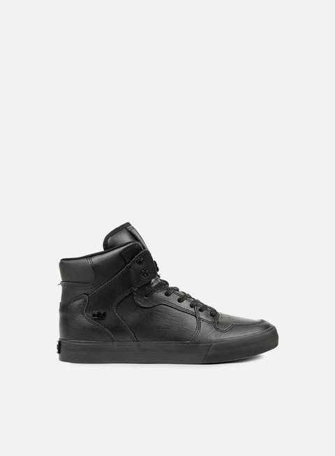 sneakers supra vaider black black red