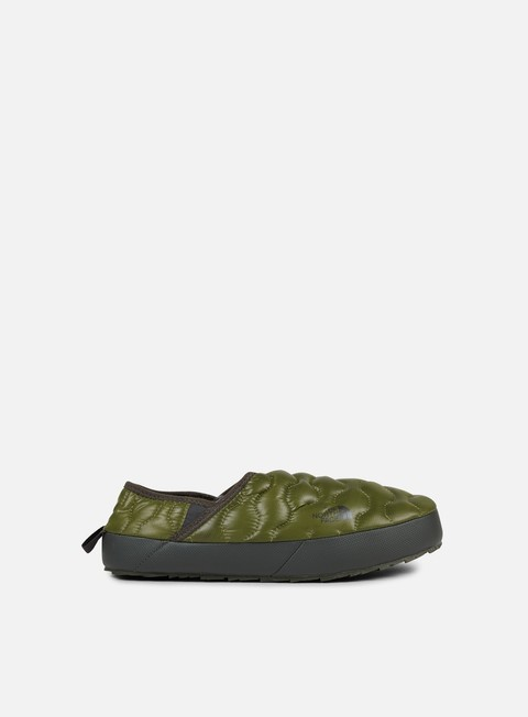 sneakers the north face thermoball traction mule iv shiny burnt olive green black ink green
