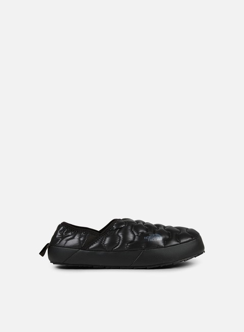 sneakers the north face thermoball traction mule iv shiny tnf black dark shadow grey