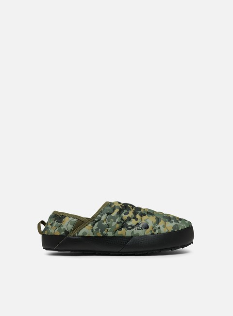 sneakers the north face thermoball traction mule iv tarmac green macrofleck print tumbleweed green