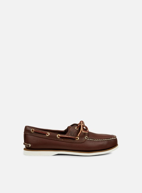 sneakers timberland classic 2 eye boat dark brown smooth