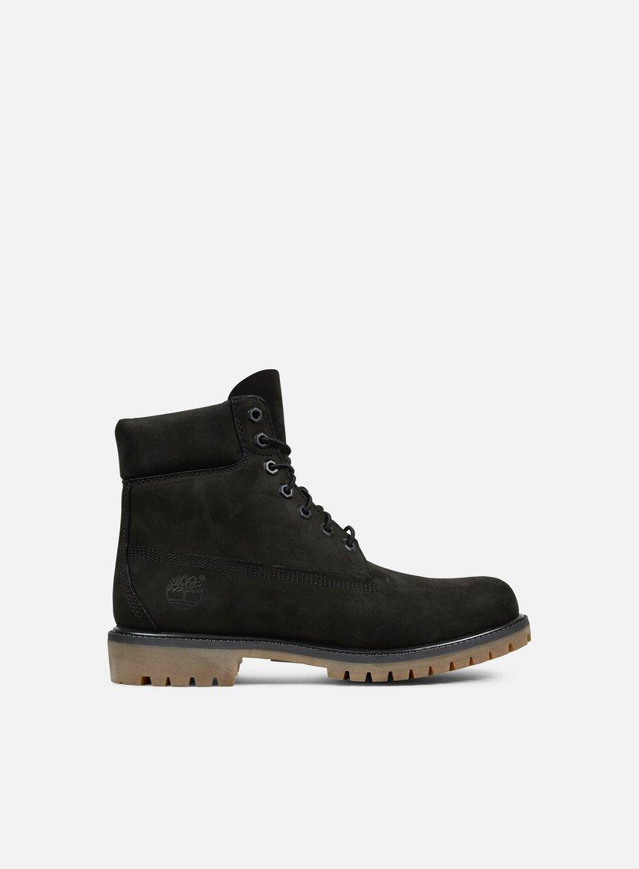 Timberland - Icon 6 Inch Premium Boot, Black Nubuck Monochromatic
