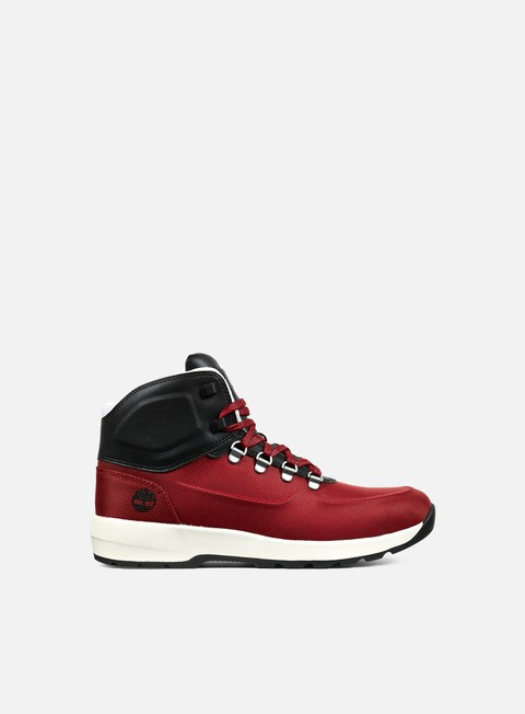 sneakers timberland westford mid emboss boot haut red fabric