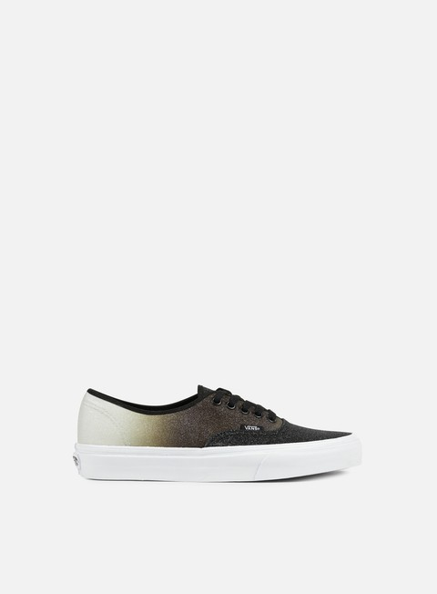 sneakers vans authentic 2 tone glitter silver black