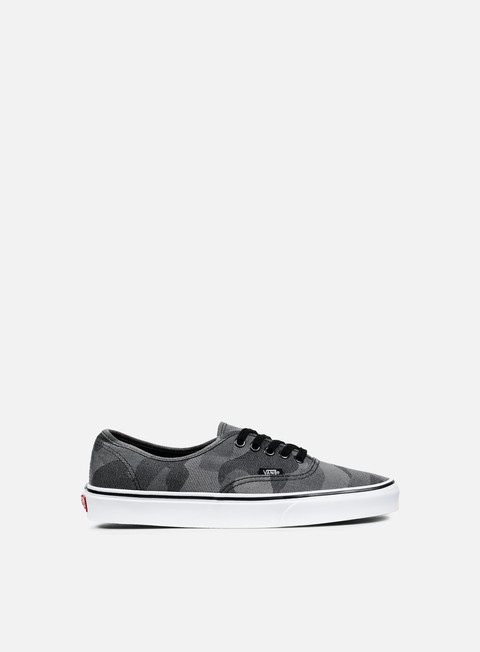 sneakers vans authentic camo jacquard black true white