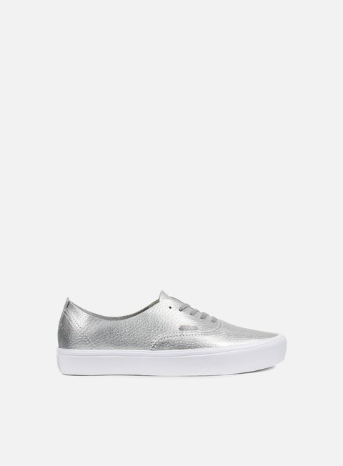 sneakers vans authentic decon leather silver