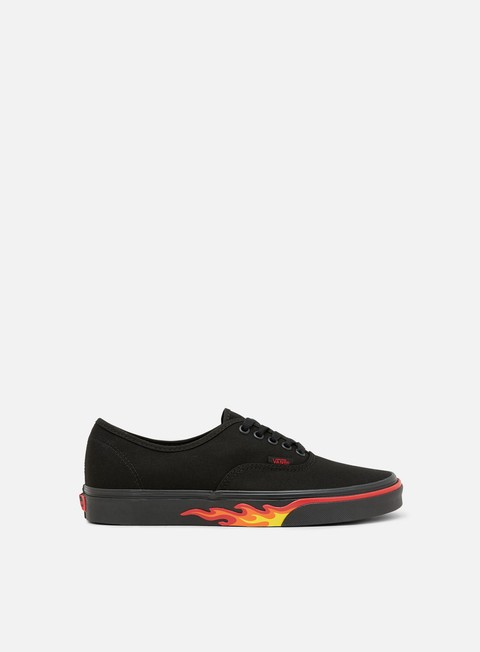 sneakers vans authentic flame wall black black