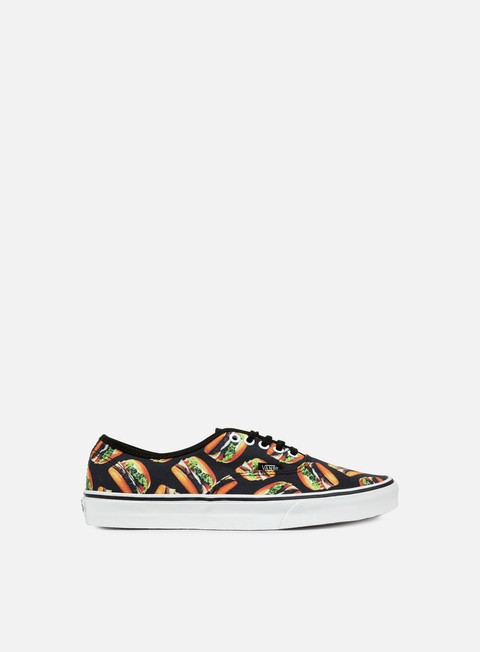 sneakers vans authentic late night black hamburgers
