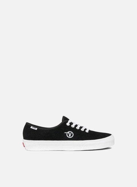 sneakers vans authentic one piece circle v black suede