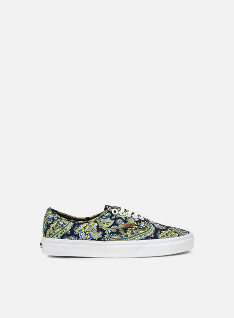 sneakers vans authentic paisley dress blues