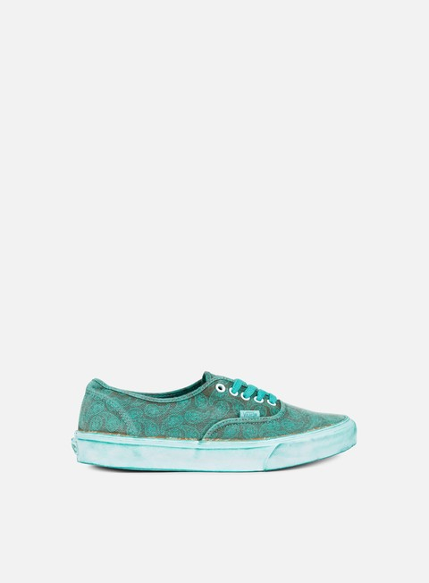 sneakers vans authentic paisley overwash turquoise
