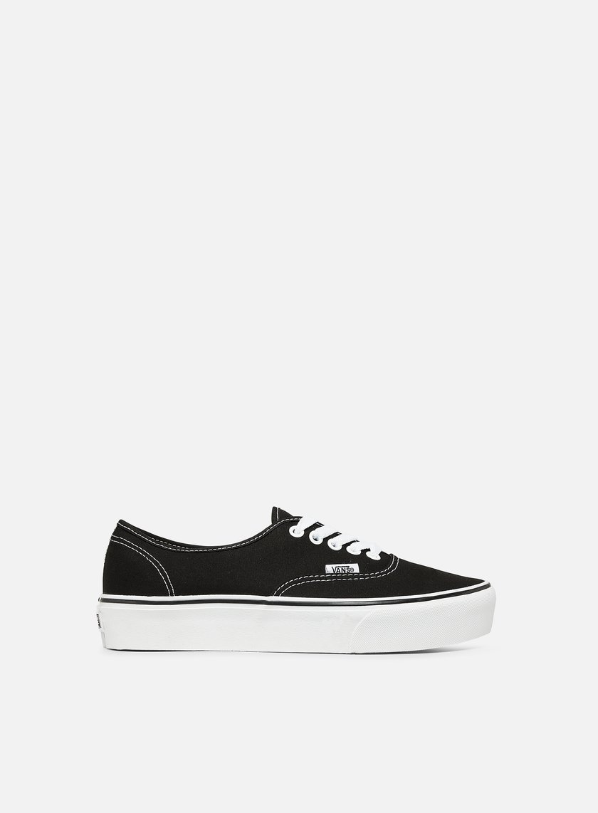 vans authentic platform black