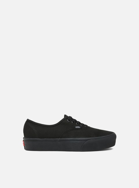 sneakers vans authentic platform canvas black black
