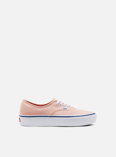 sneakers vans authentic platform canvas evening sand true white