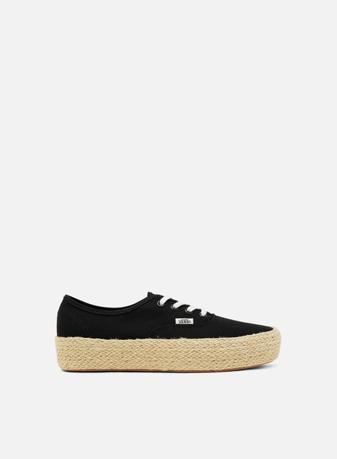 sneakers vans authentic platform espadrille black