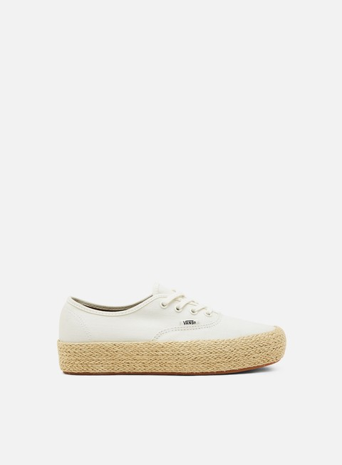 sneakers vans authentic platform espadrille marshmallow