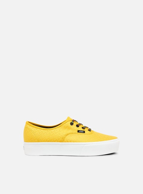 sneakers vans authentic platform lemon chrome true white black