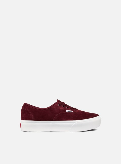 sneakers vans authentic platform pig suede port royale true white