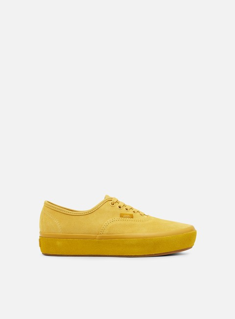 sneakers vans authentic platform suede outsole ochre