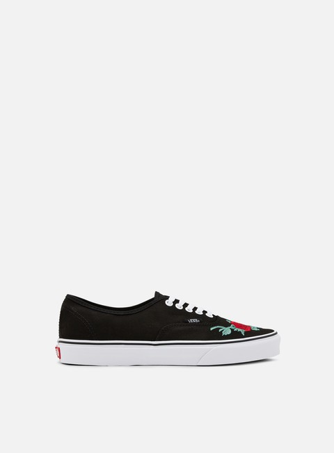 sneakers vans authentic rose thorns red true white