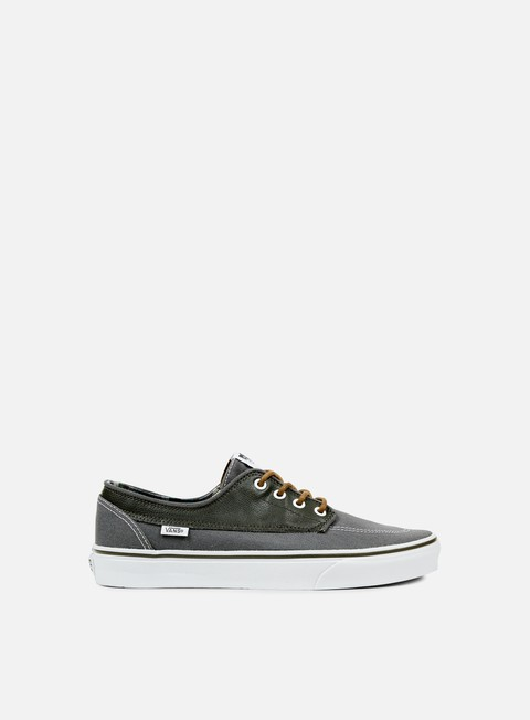 sneakers vans brigata leather plaid asphalt beluga