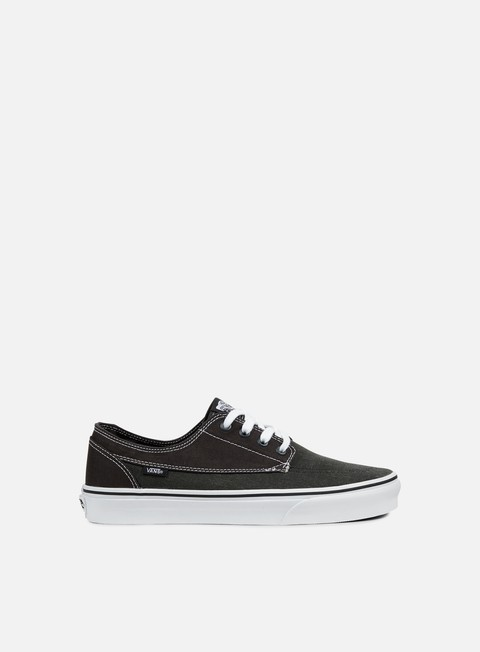 sneakers vans brigata washed canvas pirate black white