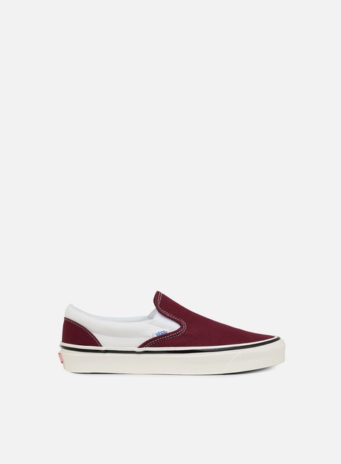 sneakers vans classic slip on 98 anaheim factory og burgundy white
