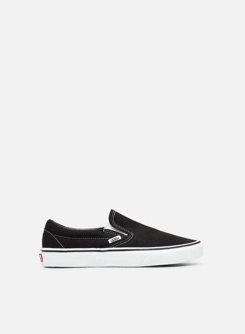sneakers vans classic slip on black white