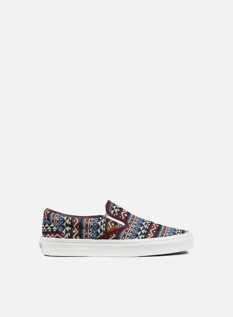 sneakers vans classic slip on blanket weave port royale dress blues