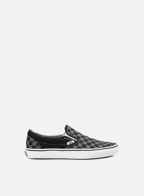 sneakers vans classic slip on checkerboard black pewter