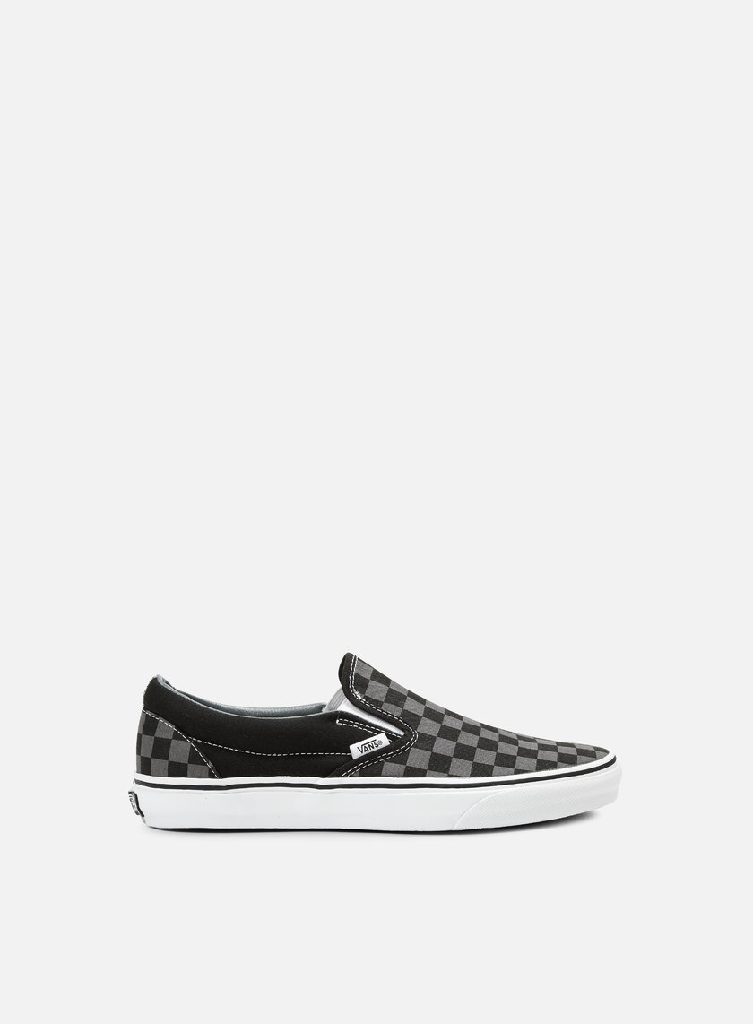 Vans - Classic Slip-On Checkerboard, Black/Pewter