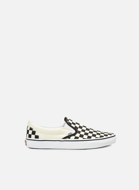 sneakers vans classic slip on checkerboard black white