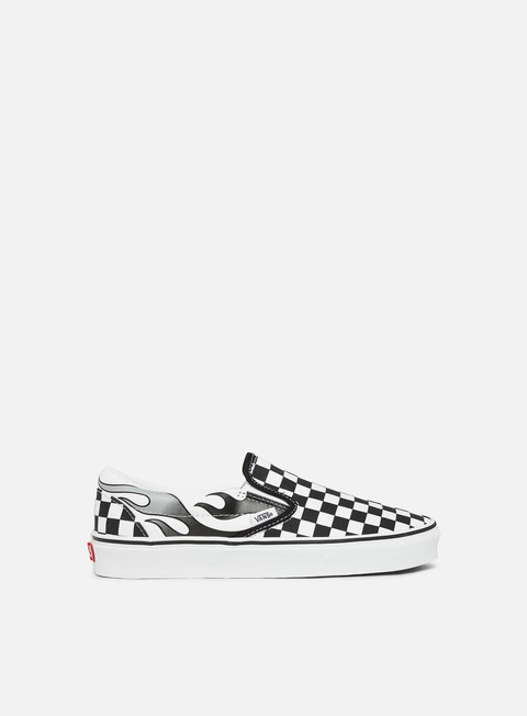 Running Sneakers Vans Classic Slip-On Checkerboard Flame