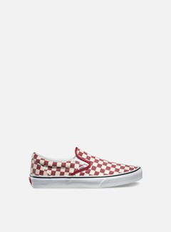 Vans - Classic Slip-On Checkerboard, Rhubarb/White 1