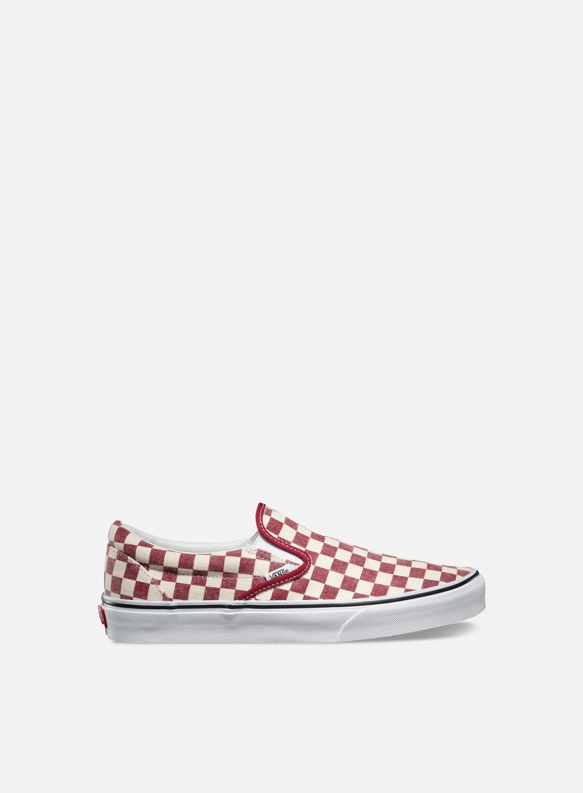Vans - Classic Slip-On Checkerboard, Rhubarb/White