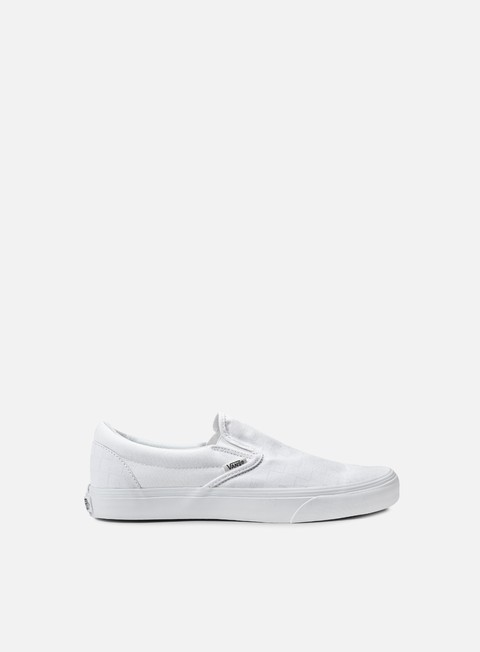 sneakers vans classic slip on checkerboard true white true white