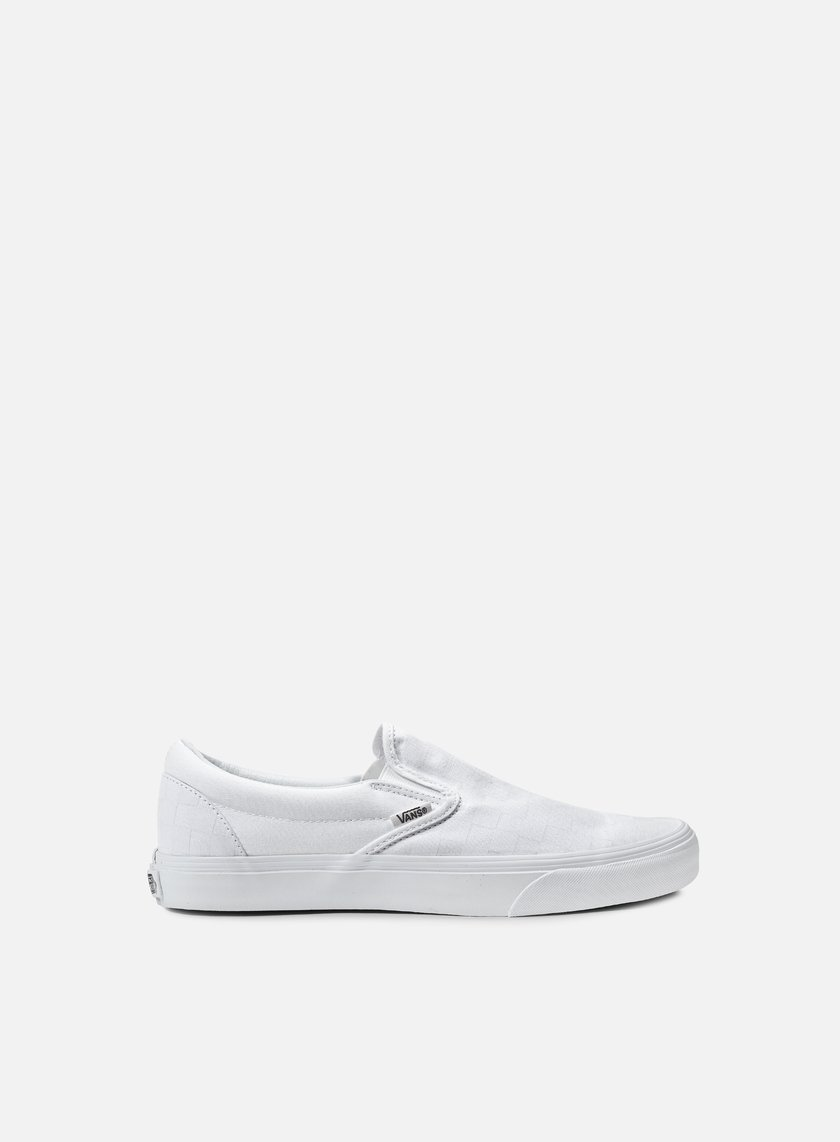 Vans - Classic Slip-On Checkerboard, True White/True White