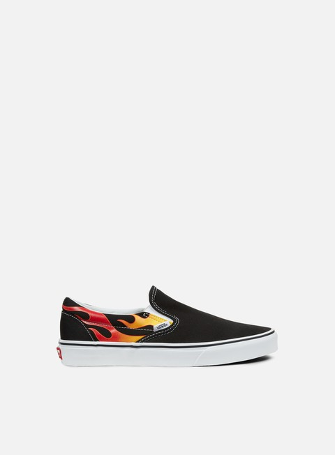 sneakers vans classic slip on flame black black true white