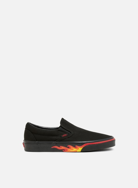 sneakers vans classic slip on flame wall black black