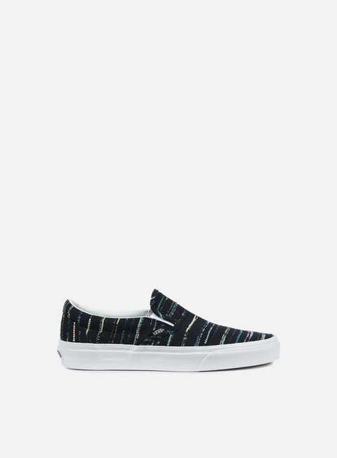 sneakers vans classic slip on italian weave black multi