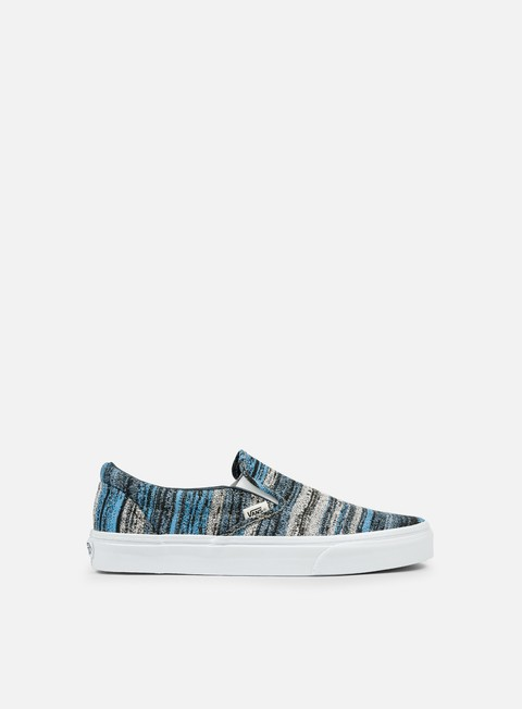sneakers vans classic slip on italian weave blue