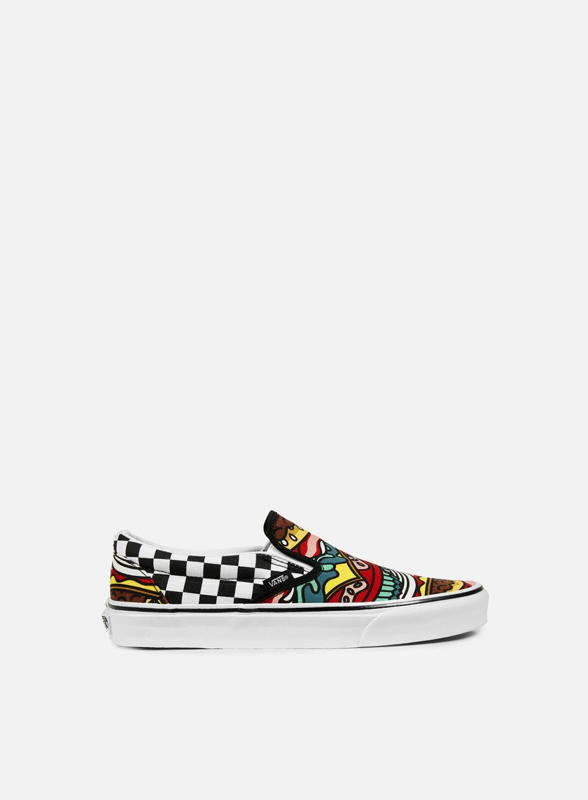Vans - Classic Slip-On Late Night, Burger/Check
