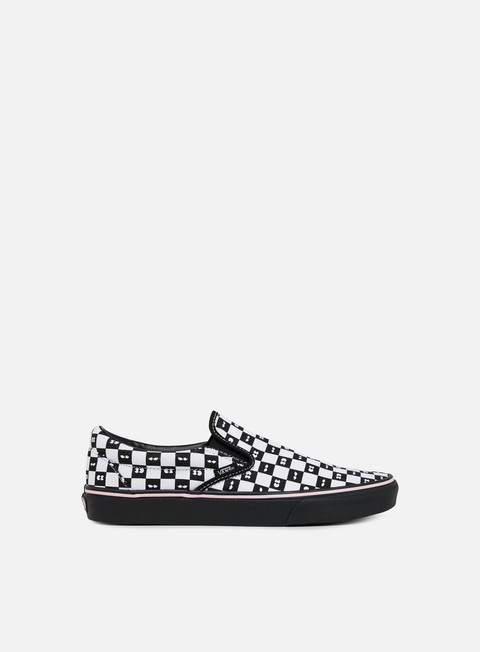sneakers vans classic slip on lazy oaf checkerboard black