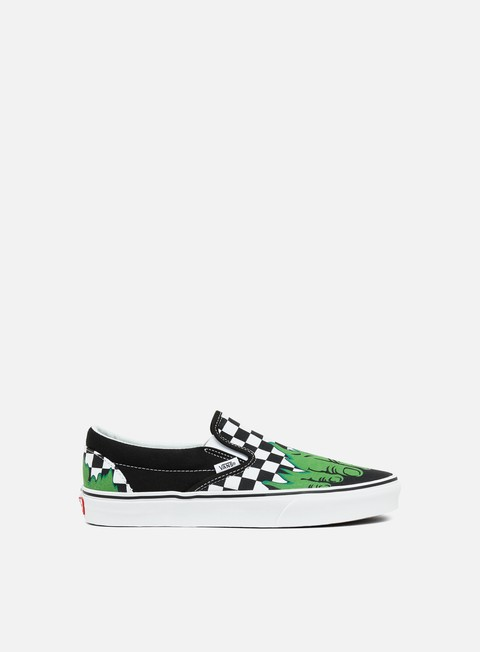 sneakers vans classic slip on marvel hulk checkerboard