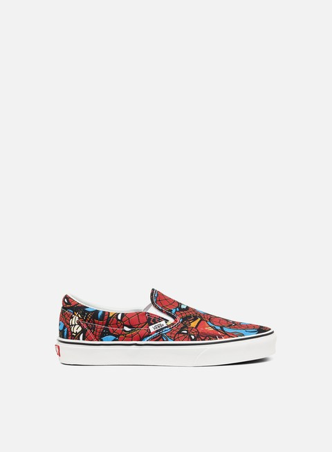 sneakers vans classic slip on marvel spiderman black