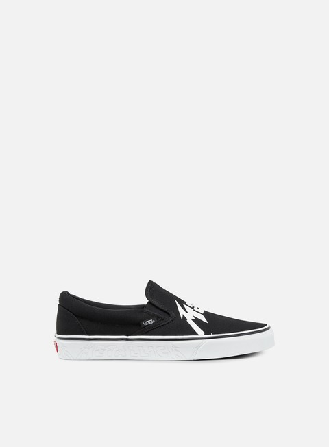 sneakers vans classic slip on metallica black true white