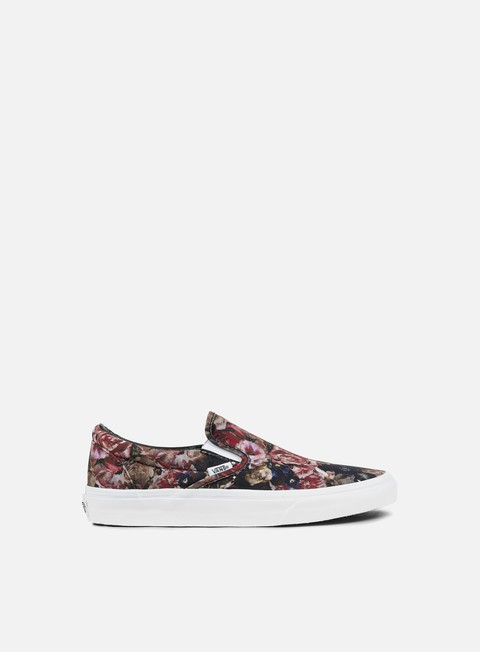sneakers vans classic slip on moody floral black true white