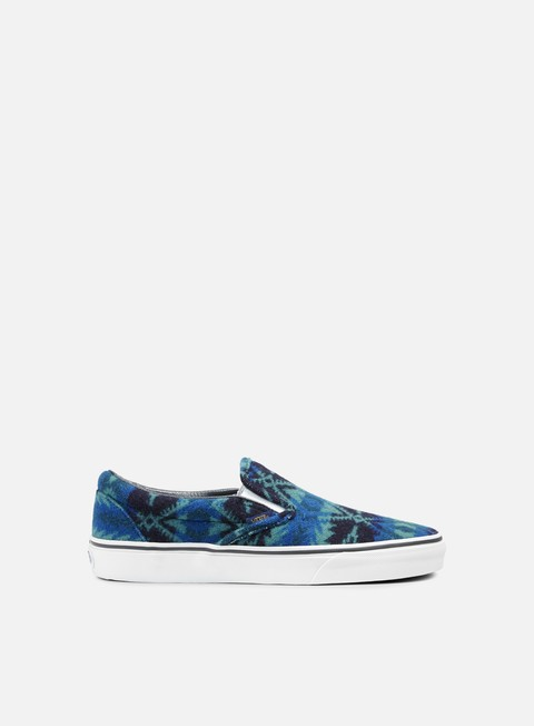 sneakers vans classic slip on pendleton tribal asphalt
